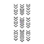 Prima - Say it in Crystals Collection - Self Adhesive Jewel Art - Bling - Arrows - 1 - Black