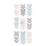 Prima - Say it in Crystals Collection - Self Adhesive Jewel Art - Pearls - Arrows - 1 - Multicolor