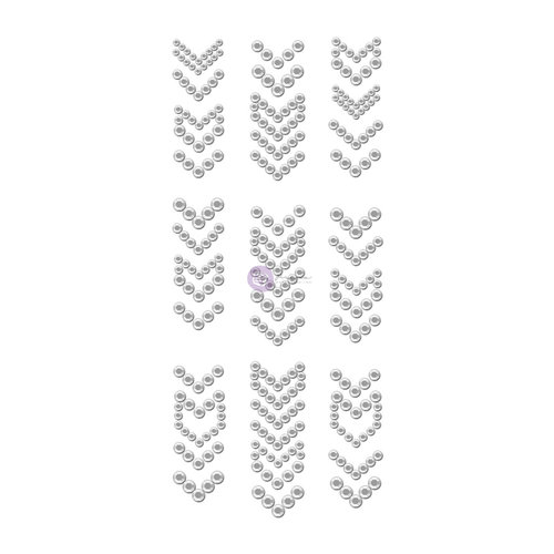 Prima - Say it in Crystals Collection - Self Adhesive Jewel Art - Bling - Arrows - 3 - Clear