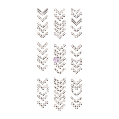 Prima - Say it in Crystals Collection - Self Adhesive Jewel Art - Pearls - Arrows - 2 - White