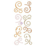 Prima - Say it in Crystals Collection - Self Adhesive Jewel Art - Pearls - Swirl - 1 - Multicolor