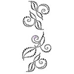 Prima - Say it in Crystals Collection - Self Adhesive Jewel Art - Bling - Swirl - 2 - Black