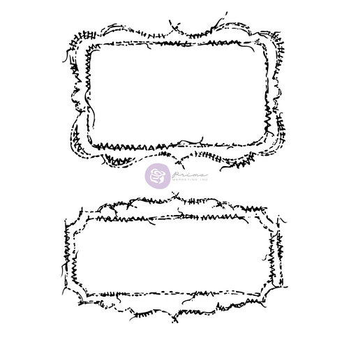 Prima - Stitch Stamps - Cling Mounted Rubber Stamps - Rectangles