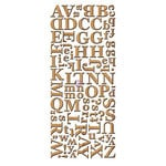 Prima - Alphabet Stickers - Wood Veneer - 2