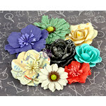 Prima - School Memories Collection - Flower Embellishments - 2