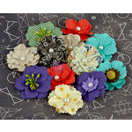 Prima - School Memories Collection - Flower Embellishments - 3