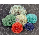 Prima - School Memories Collection - Flower Embellishments - 5