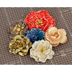 Prima - Allstar Collection - Flower Embellishments - Four