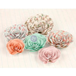 Prima - Delight Collection - Flower Embellishments - Five