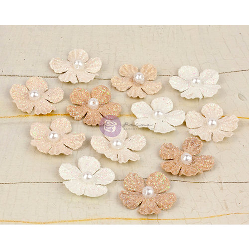 Prima - Perla Collection - Flower Embellishments - One