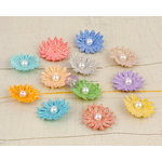 Prima - Perla Collection - Flower Embellishments - Six