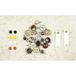 Prima - Time Travelers Memories Collection - Metal Brads