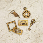 Prima - Time Travelers Memories Collection - Wood Icons in a Box