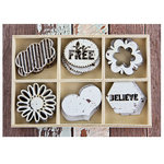 Prima - Free Spirit Collection - Wood Icons in a Box
