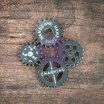 Prima - Resin Collection - Resin Icons in Wood Box - Gears