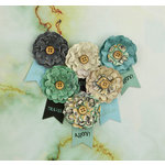 Prima - Seashore Collection - Flower Embellishments - Salt Water