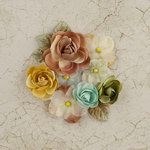 Prima - Time Travelers Memories Collection - Flower Embellishments - Time is Up