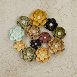Prima - Time Travelers Memories Collection - Flower Embellishments - Tell Time