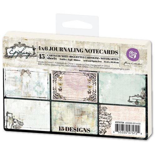Prima - Epiphany Collection - 4 x 6 Journaling Cards