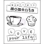 Prima - Coffee Break Collection - Clear Acrylic Stamps - One