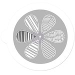 Prima - 5 Inch Mask - Pin Wheel Stencil - Petal