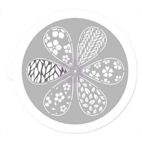 Prima - 7 Inch Mask - Pin Wheel Stencil - Petal