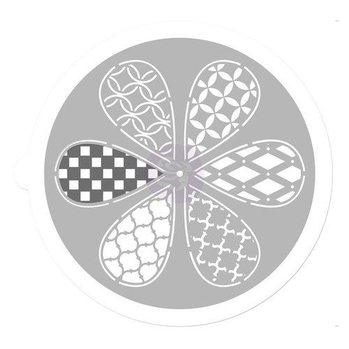 Prima - 9 Inch Mask - Pin Wheel Stencil - Petal
