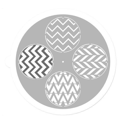 Prima - 9 Inch Mask - Pin Wheel Stencil - Round