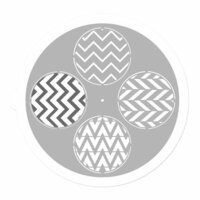 Prima - 9 Inch Mask - Pin Wheel Stencil - Round