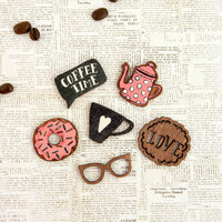 Prima - Coffee Break Collection - Wood Icons in a Box