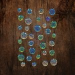 Prima - Say It In Crystals Collection - Self Adhesive Jewels - Ocean