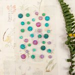 Prima - Forever Green Collection - Say It In Crystals - Self Adhesive Jewels