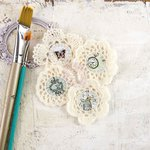 Prima - Epiphany Collection - Fabric Embellishments - Crochet Icons