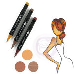 Prima - Mixed Media - Markers - Prima Palette Set - Auburn