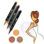 Prima - Mixed Media - Markers - Prima Palette Set - Auburn
