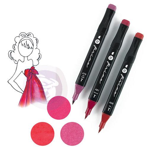 Prima - Mixed Media - Markers - Prima Palette Set - Ruby