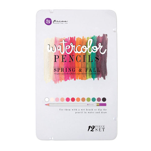 Prima - Mixed Media - Watercolor Pencils - Spring and Fall