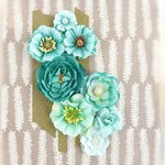 Prima - Capistrano Collection - Flower Embellishments - Blue Punch