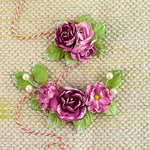 Prima - Winthrop Collection - Flower Embellishments - Garnet