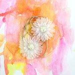 Prima - Sunset Collection - Flower Embellishments - Sundown