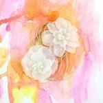 Prima - Sunset Collection - Flower Embellishments - Dimday