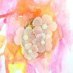 Prima - Sunset Collection - Flower Embellishments - Dark