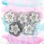 Prima - Juno Collection - Flower Embellishments - Tuxedo