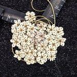 Prima - Hillsboro Collection - Flower Embellishments - Brown Sugar