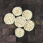 Prima - Capri Collection - Flower Embellishments - Chardonnay