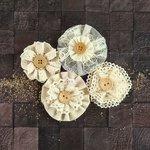 Prima - Capri Collection - Flower Embellishments - Zinfandel