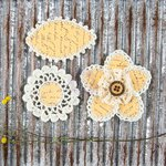Prima - Pensacola Collection - Flower Embellishments - Sunshine
