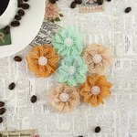 Prima - Coffee Break Collection - Flower Embellishments - Chai Tea