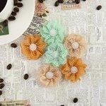 Prima - Coffee Break Collection - Flower Embellishments - Chai Tea