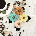 Prima - Coffee Break Collection - Flower Embellishments - Macchiato